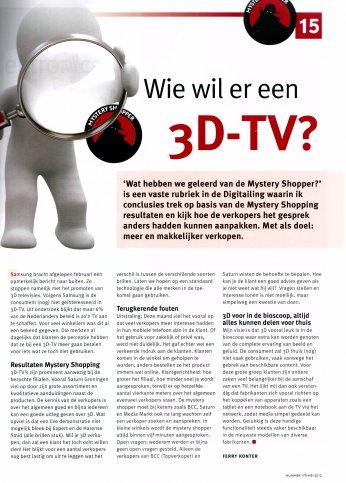 Wie wil er een 3D-TV?