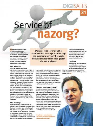 Service of nazorg?!